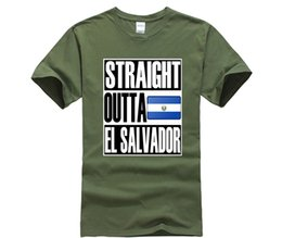8fd00313 100% cotton O-neck printed T-shirt Teecastle Straight Outta El Salvador  Quality Flag T-Shirt