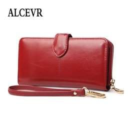Discount small wax bags - ALCEVR Zipper & Hasp Oil Wax Pu Leather Wallets Women Small Card Coin Bags Simple Style Solid Color Student Money Purses