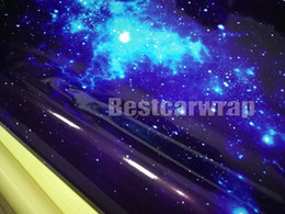 Motor body stickers online shopping - Blue Gloss matte Galaxy Camouflage Vinyl car wrap covering with air bubble free For Auto motor boat car decoration1 x30m x98ft
