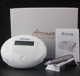 auto pen machine 2019 - Artmex V6 Permanent Makeup Machine Kits Tattoo Makeup LCD Screen Eyebrows Eyelids Lips Pen Electric DermaPen Auto Micron