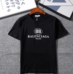 Venta al por mayor de Nueva marca GC MODO BB Letra impresa casual con cuello o camiseta simple y Moda Camiseta de manga corta de algodón puro Camisetas de estilo hip hop