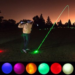 $enCountryForm.capitalKeyWord NZ - 1 Piece LED Light Up Golf Balls Glow Flashing In the Dark Night Golf Balls Multi Color Training Practice Gifts