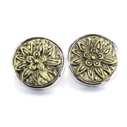 $enCountryForm.capitalKeyWord UK - Gold Flower Metal 18mm snap button jewelry for male bracelet M462 watches women bangle jewelry 061018