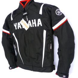 Discount yamaha gear - Motorcycle Racing Jacket For YAMAHA Removable Cotton lining Motocross Riding Clothing Jacket With Protective Gear Moto J