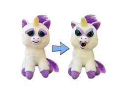 Chinese  Feisty Pets One second Change face Animals 20CM 8 Inch Plush toys cartoon TY monkey bear unicorn Stuffed Animals baby gift Plush Dolls manufacturers