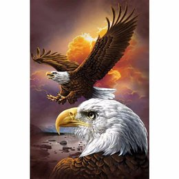 Men folk online shopping - Animals Philadelphia Eagle DIY D Diamond Mosaic Full Diamond Painting Embroidery Cross Stitch Kits Creative Man Birthday Gifts