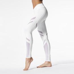 White Leggings Xl Canada - Legging Fitness White Striped Sportswear Women Sporting Leggings Workout Pants Clothing Elasticity Ropa Mujer