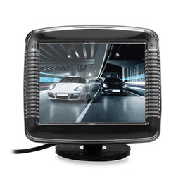 video lcd screen 2018 - 3.5 Inch LCD Screen Car Rear View Monitor With Video Cable Night Vision Parking Reverse Camera 2 In 1 Rearview Device Ca