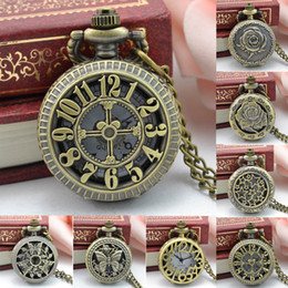 2019 Latest Design Vintage Fashion Pocket Watch Bronze Robot Creative Cute Decoration Pendant Chain Necklace Charm Antique Classic Watches Women Watches