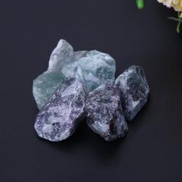 200g Natural Fluorite Crystal Stone Minerali Rock Gemstone Gemme Campione Pietre naturali Craft for Planting Pot Fish Tank Decor