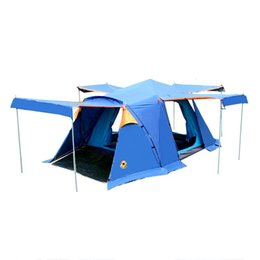mosquito nets for doors 2019 - DESERTCAMEL CS090 Automatic Double Layers Tent Portable Four Doors Square Roof Tent With Breathable Mosquito Net For Cam