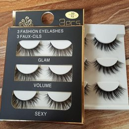 $enCountryForm.capitalKeyWord NZ - 3pair box 3D false eyelashes Mink Hair eyelashes Handmade Beauty Thick Long Soft lashes Fake Eye Lashes Eyelash Sexy High Quality