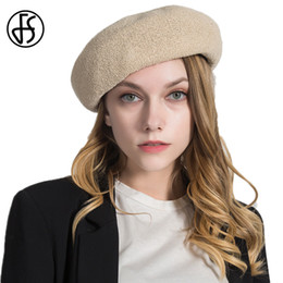 $enCountryForm.capitalKeyWord NZ - FS Fashionable Elegant Solid Color Round Cap Beret Women Hat knit Beanie For Summer 2018 Lady Female Feminine Ladies