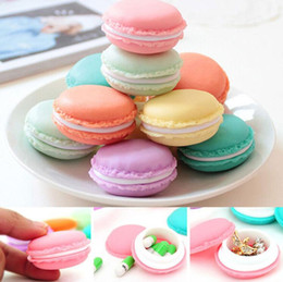macaron boxes NZ - Macaron Cute Jewelry Box Organizer Mini Storage Box Clip Holder Case Jewelry Packing Box Multi-color Free Shipping
