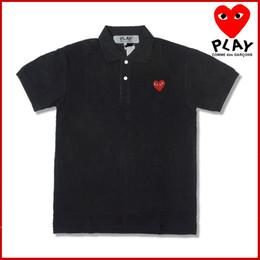 Venta al por mayor de CDG PLAY combina camisetas de diseñador de ropa masculina con polo deportivo en forma de corazón en nueve colores de vetementspablo de verano