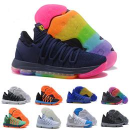 6f86770201a7d1 Men Basketball Shoes 10 Anniversary University Still Kd Igloo BETRUE Oreo  USA Kevin Durant Elite KD10 Sport Sneakers wholesale