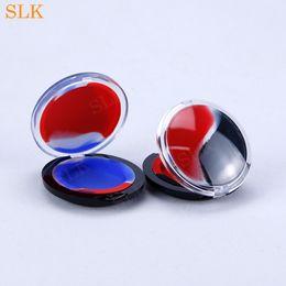 $enCountryForm.capitalKeyWord Australia - Flat round silicone wax container dab wax jar wholesale price dab container acrylic storage case mirror shell