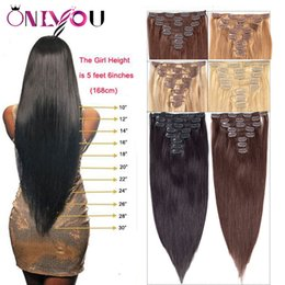 068f0f549434 Black Brown Blonde omBre hair online shopping - Newest Brazilian Virgin  Straight Human Hair Clip In