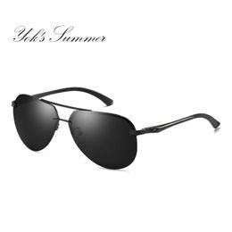 b38c53788ed Yok s Fashion Polarized Sunglasses Men Brand Design Classic Alloy Frame Big Glasses  Women Driving Goggles Black Coating Oculos HN1010