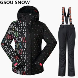 gsou snow suits NZ - Gsou Snow Women Ski Suits Winter Snowboarding Jackets and Pants Windproof Waterproof Colorful Female Outdoor Sports Skiing Sets