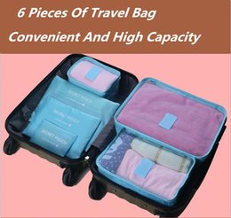 Types Set Clothes Australia - Portable Travel Storage Bag 6 Sets Of Waterproof Clothes Finishing Bags Travel Storage Bag Storage Six Sets Household Products