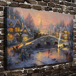 Framed Christmas Paintings Canada - Spirit of Christmas,1PC SHome Decor HD Printed Modern Art Painting on Canvas (Unframed Framed)