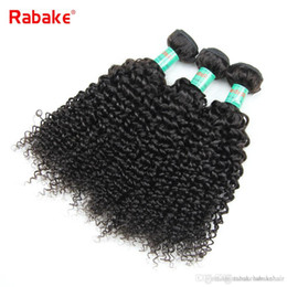 $enCountryForm.capitalKeyWord Australia - 3 4pcs lot Human Hair Bundles Rabake Afro Kinky Curly Peruvian Hair Extensions Wavy Weave Double Wefts Wholesale Cheap Deals for Black Women