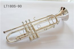 silver plating trumpets NZ - New FREE Senior Bach Silver Plated Trumpet LT180S-90mall Brass Musical Instrument Trompeta Professional High Grade