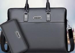 Computer Hand Bags NZ - New Leather Manufacturer's Briefcase Men's Handbag Single Shoulder Oblique Bag Hand Carrying Computer Bag Gift Processing Custom Made