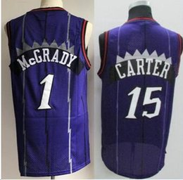 3f66c2e6a Men s TOR  1 Tracy Mcgrady  15 Vince Carter Jersey  2  7  10 100% Embroidery  Logo Stitched College Carter Basketball Jerseys mcgrady s promotion