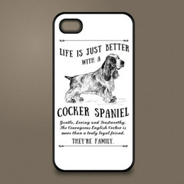 Iphone 5s Dog Cases NZ - Cocker Spaniel Dog Phone Case For Iphone 5c 5s 6s 6plus 6splus 7 7plus Samsung Galaxy S5 S6 S6ep S7 S7ep