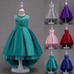 $enCountryForm.capitalKeyWord Canada - Princess Flower Girl Dress Lace High Low Wedding Birthday Party Tutu Gown Kids Clothes