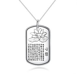 $enCountryForm.capitalKeyWord UK - Vintage Amulet Sanskrit Buddha Pendant Lotus Polo Flower design statement good blessing Chinese words necklaces charms