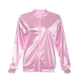 Women Costume Cheerleader UK - Halloween Pink Lady Retro Jacket Womens Fancy Grease Costume Cheerleader Coats