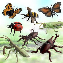 Discount small farm toys - 8 Style Small Animal Models Action Figures Children Toys Early Learning Cognitive Toys Farm Landscape Simulation Insect