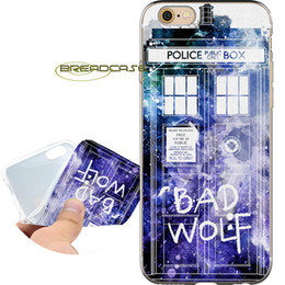 bad apple NZ - Coque Bad Wolf Doctor Who Shell Cases for iPhone 10 X 7 8 6S 6 Plus 5S 5 SE 5C 4S 4 iPod Touch 6 5 Clear Soft TPU Silicone Cover.