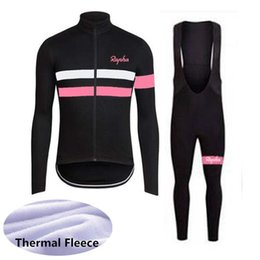 BreathaBle pants cycling online shopping - RAPHA team Cycling Winter Thermal Fleece jersey bib pants sets Maillot Ciclismo Breathable Bike Clothes F