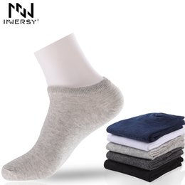 $enCountryForm.capitalKeyWord UK - Innersy 2017 Brand 5Pcs lot Socks Thin Socks Short Deodorize Cotton Boy's Casual Wear Colorful Stocking Pattern Men