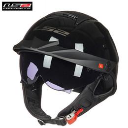 Ls2 Motorcycle Half Helmet NZ - LS2 Motorcycle Helmet Vintage Open Face Half Jet Capacete Casco Vespa Cafe Racer Retro Moto Motor Motorrad Helm LS2 Helmets