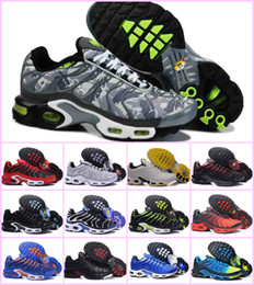 Discount max green - NEW 2018 AIR TN PLUS Ultra Men RunninG Shoes for Cheap TN Shoes black white Fashion Casual Basket Tn Requin Sport 270 Ch
