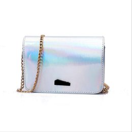 07bf89f32c33 2018 spring and summer new bag female Korean fashion patent leather women s  shoulder Messenger bag laser chain small square package discount korean bow  ...