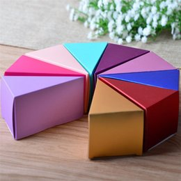ChoColate wood online shopping - Aluminum Foil Triangle Cake Candy Box Chocolate Sugar Gift Boxes Originality Wedding Decorations Party Suppies dg gg