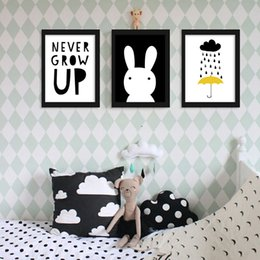 $enCountryForm.capitalKeyWord UK - Home Decor Painting Calligraphy Peter Pan Quote Print - Never Grow Up Canvas Art Print Children's Poster For Nursery Kids Bedroom