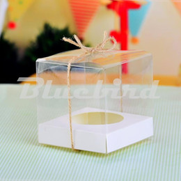 $enCountryForm.capitalKeyWord NZ - Clear PVC Transparent Cupcake Boxes With Base Inside Wedding Party Gift Box And Packaging (Set of 12)