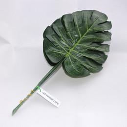 Шелковая ткань искусственные растения monstera Черепаха лист филиал свадьба Главная офисная мебель сад декор зеленый на Распродаже