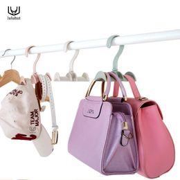 c46fc652bf29 luluhut Bag storage racks rotatable bag hanger wardrobe hangers strong  necktie belt hooks hand holder plastic hook