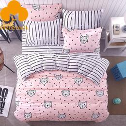 queen sized bedding sets 2019 - MECEROCK Girls Pretty Bedding Set Pink Duvet Covet Set Bed Linen Twin Full Queen King Size discount queen sized bedding