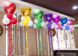 $enCountryForm.capitalKeyWord NZ - Decorative balloon pendant heart-shaped aluminum balloon package wedding wedding room birthday party decoration