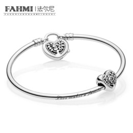 Discount tree love bracelets - FAHMI 100% 925 sterling silver Genuine Charm Life Tree Love Signature Bracelet Set Fit DIY Gift Women Original Jewelry