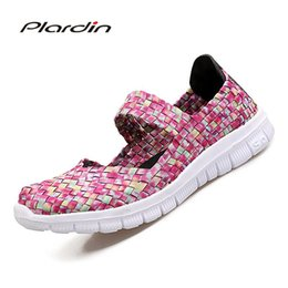 Chinese  plardin 2017 Summer women's T-tied Flat Sandals T-tied Shoes For women Woven shoes Breathable Beach Sandals Jelly Shoes Woman manufacturers
